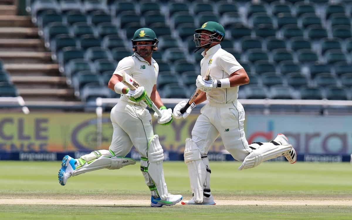 Image of Cricket South African Cricketers Aiden Markram and Dean Elgar
