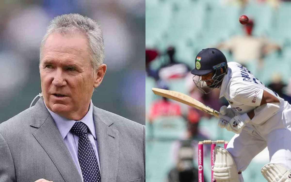 sydney test australian allan border slammed cheteshwar pujara for playing slow innings