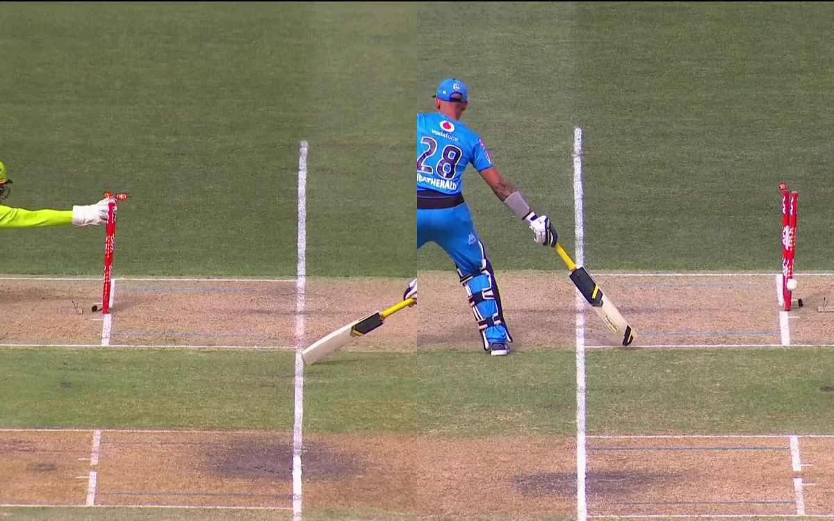 Cricket Image for VIDEO : 'एक ही बॉल पर दो बार रन आउट हुआ बल्लेबाज', बीबीएल में देखने को मिला एक अनो
