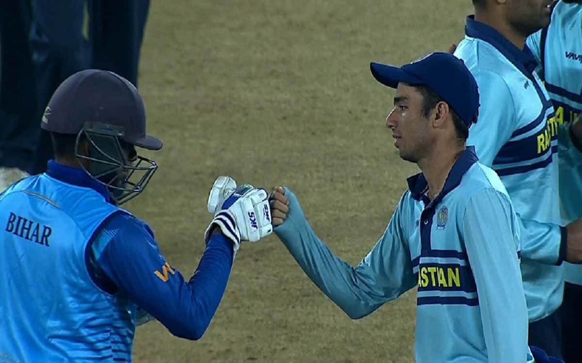 Syed Mushtaq Ali Trophy: Rajasthan defeated Bihar by 16 runs to win the semi-final ticket