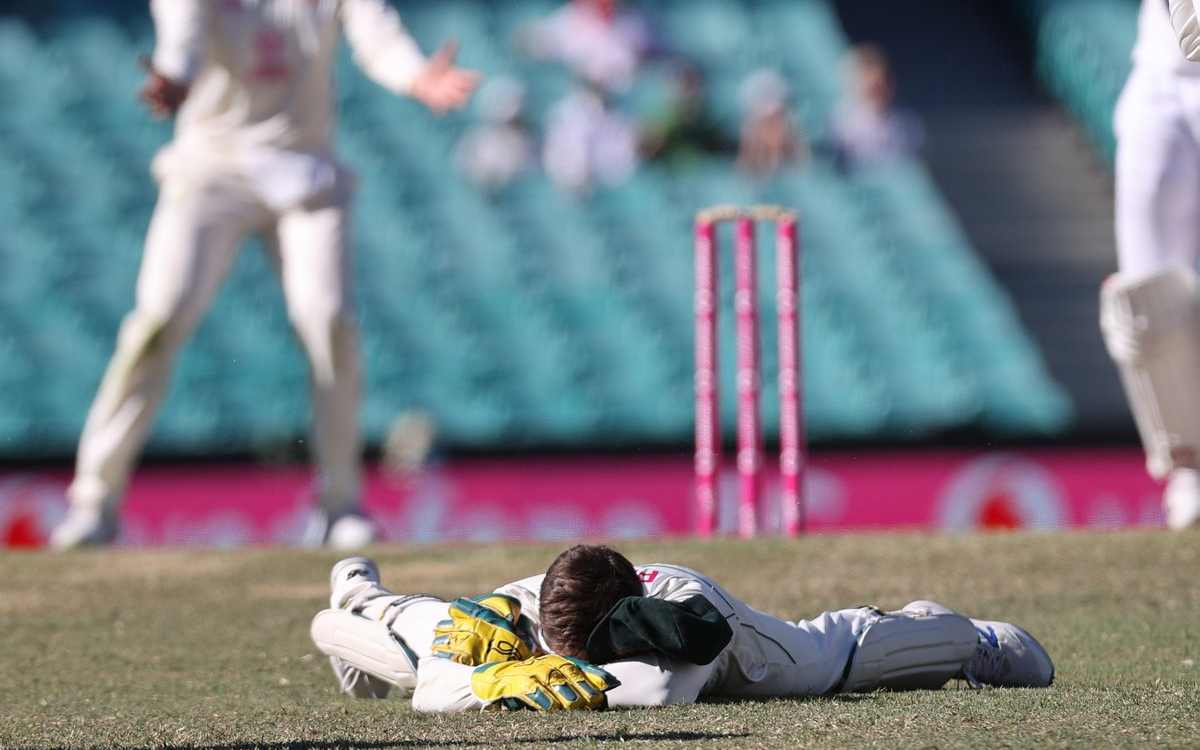 tim paine got trolled after dropping three catches and sledging on ashwin