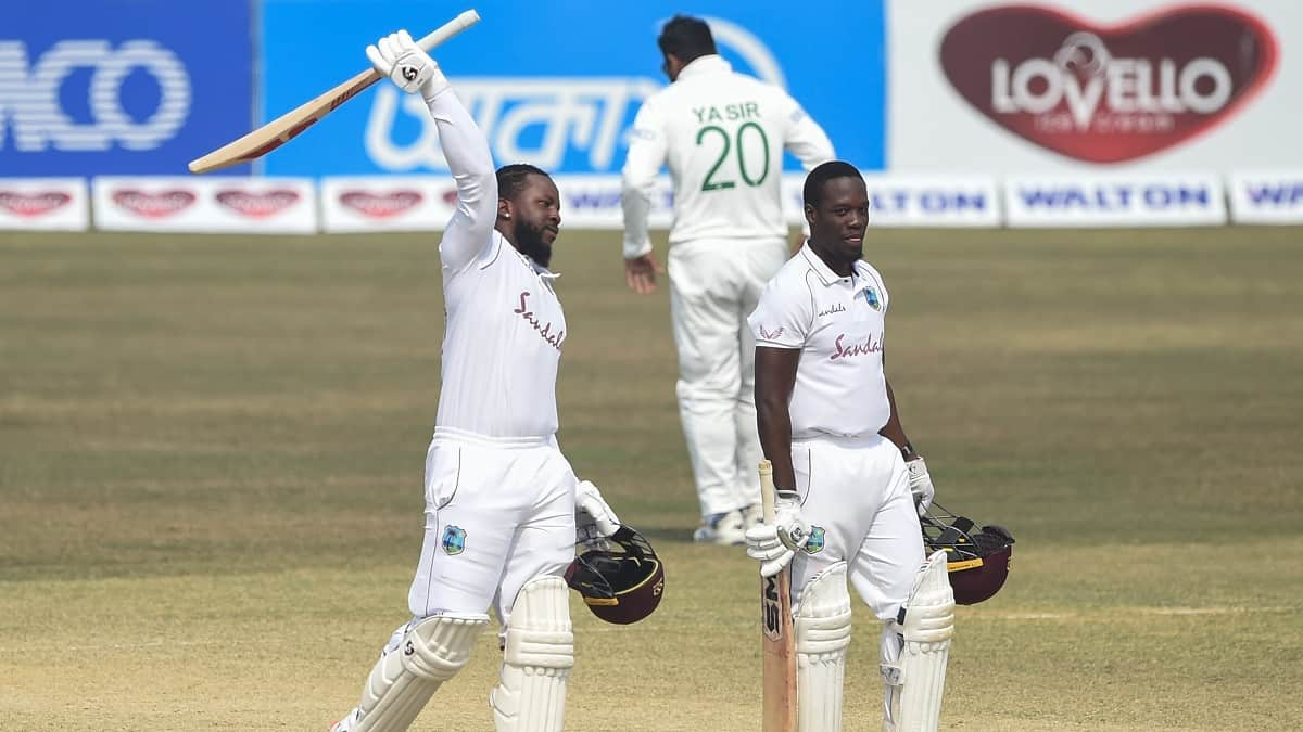 Cricket Image for 1st Test: Kyle Mayers' 210 Leads Windies To Miraculous 3-Wicket Win Against Bangla