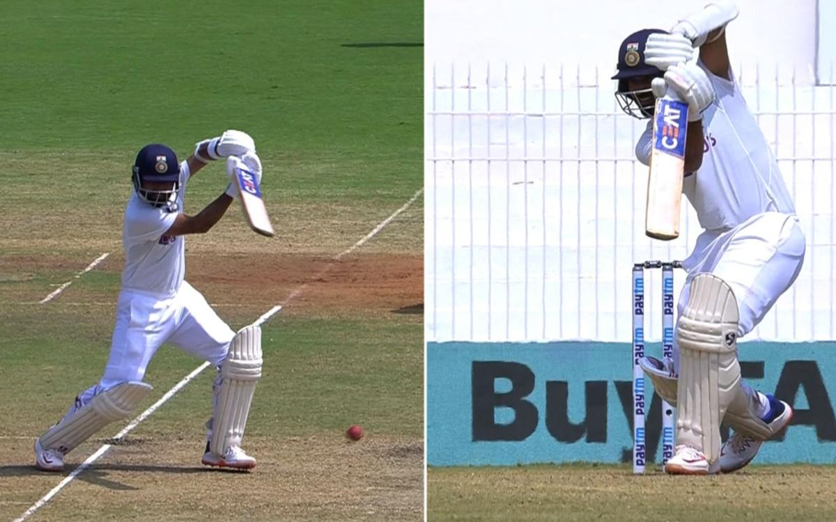 Cricket Image for India Vs England Ajinkya Rahane Two Gorgeous Looking Shots