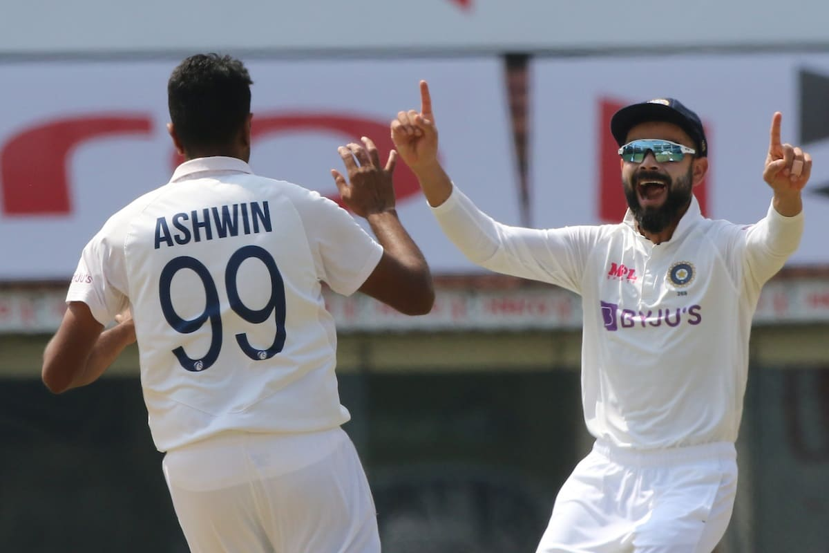 Ashwin 1st Indian spinner to take wicket off first ball of a Test innings