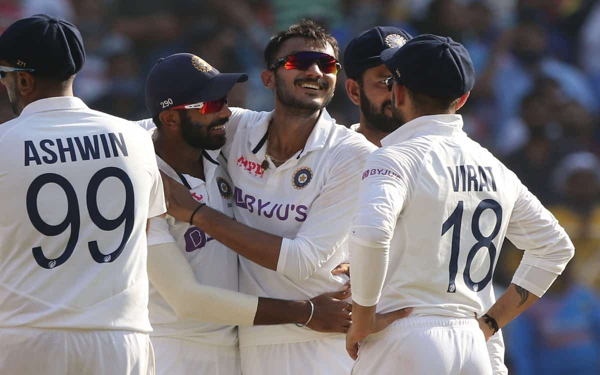 Cricket Image for Ind Vs Eng Axar Patels 6 Wicket Bowling Attack Limited England To Just 112 Runs
