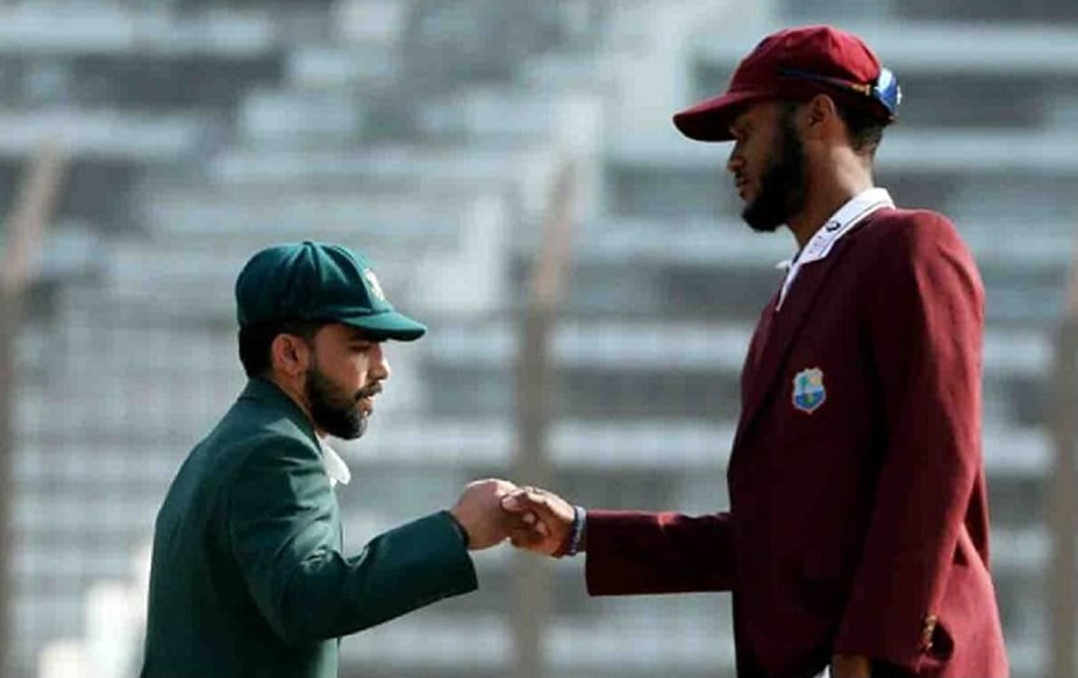 West indies opt to bat first against Bangladesh in second test
