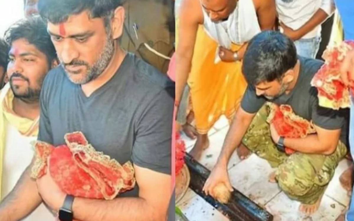 Cricket Image for Csk Captain Ms Dhoni Pays Visit To Dewri Temple Ahead Of Ipl 2021 Watch Pics