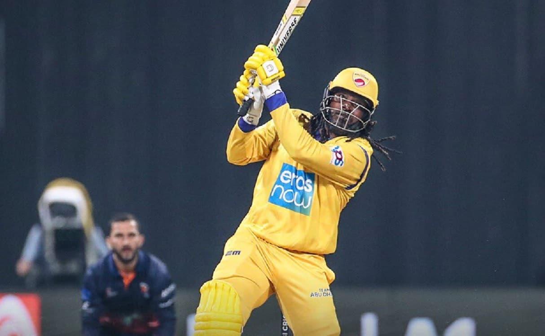 Cricket Image for क्रिस गेल ने खेली 22 गेंदों में 84 रन की तूफानी पारी, जड़ा T10 लीग इतिहास का सबसे
