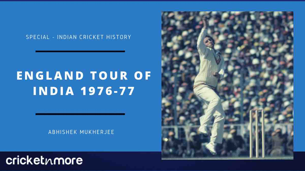 Cricket Image for Cricket History - England Tour Of India 1976-77