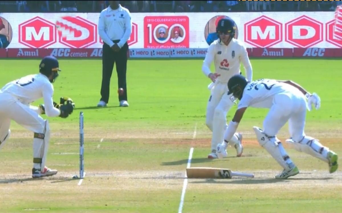 Cricket Image for Cheteshwar Pujara Wicket Watch Video