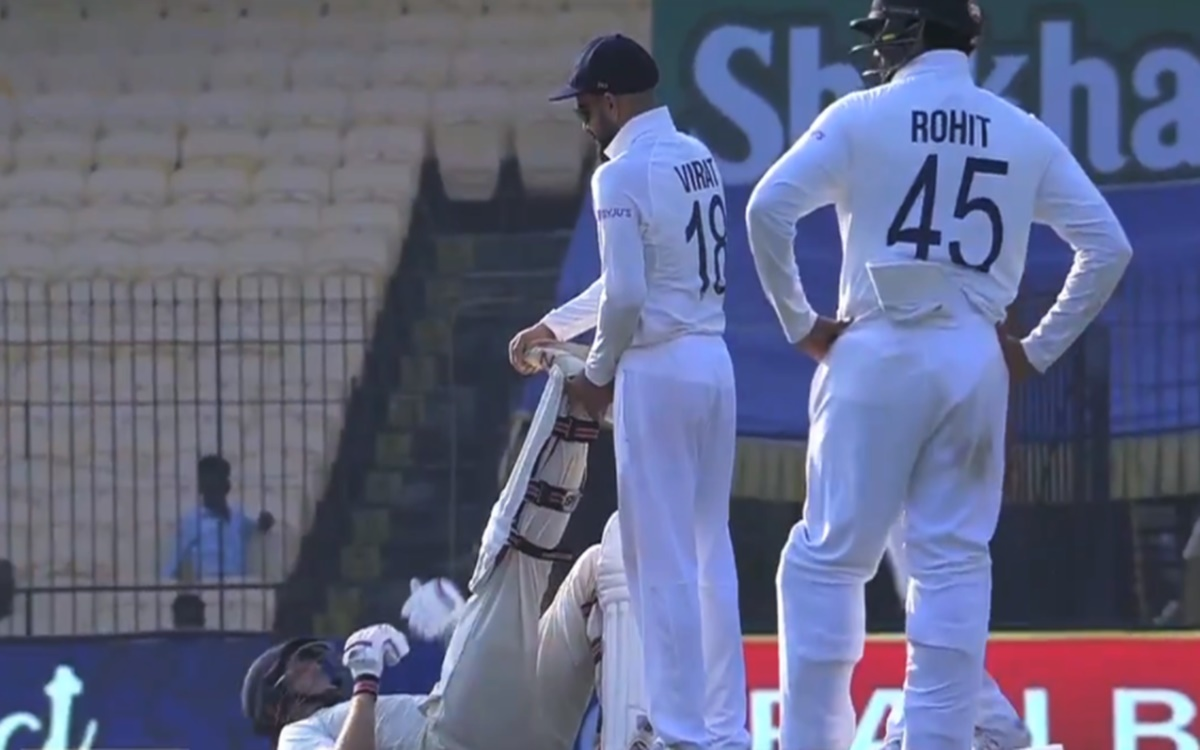 Cricket Image for Virat Kohli Aid Joe Root During Chennai Test Watch Video