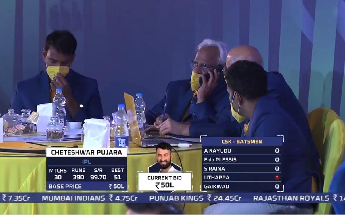 Cricket Image for VIDEO: 'ताली बजाएंगे लेकिन खरीदेंगे नहीं', नीलामी में बिके चेतेश्वर पुजारा तो बजने