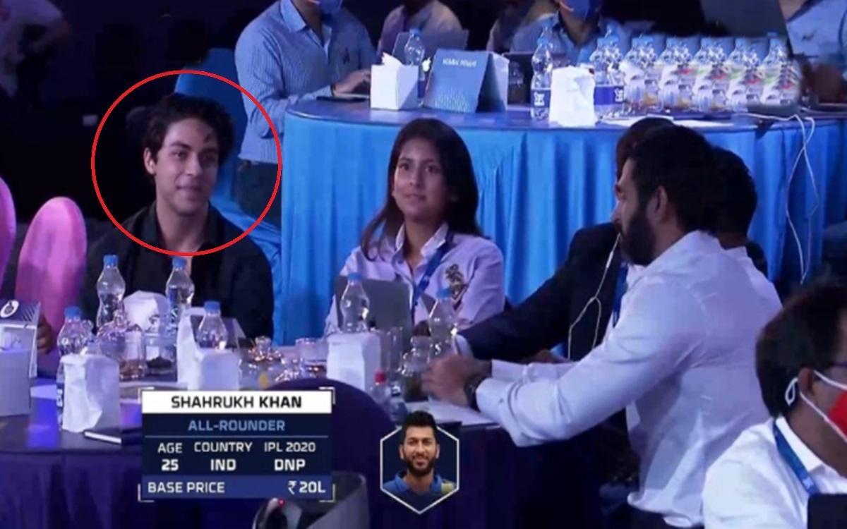 Cricket Image for Ipl Auction 2021 Shah Rukh Khan Son Aryan Reacts After Tamil Nadu Cricketer Shahru