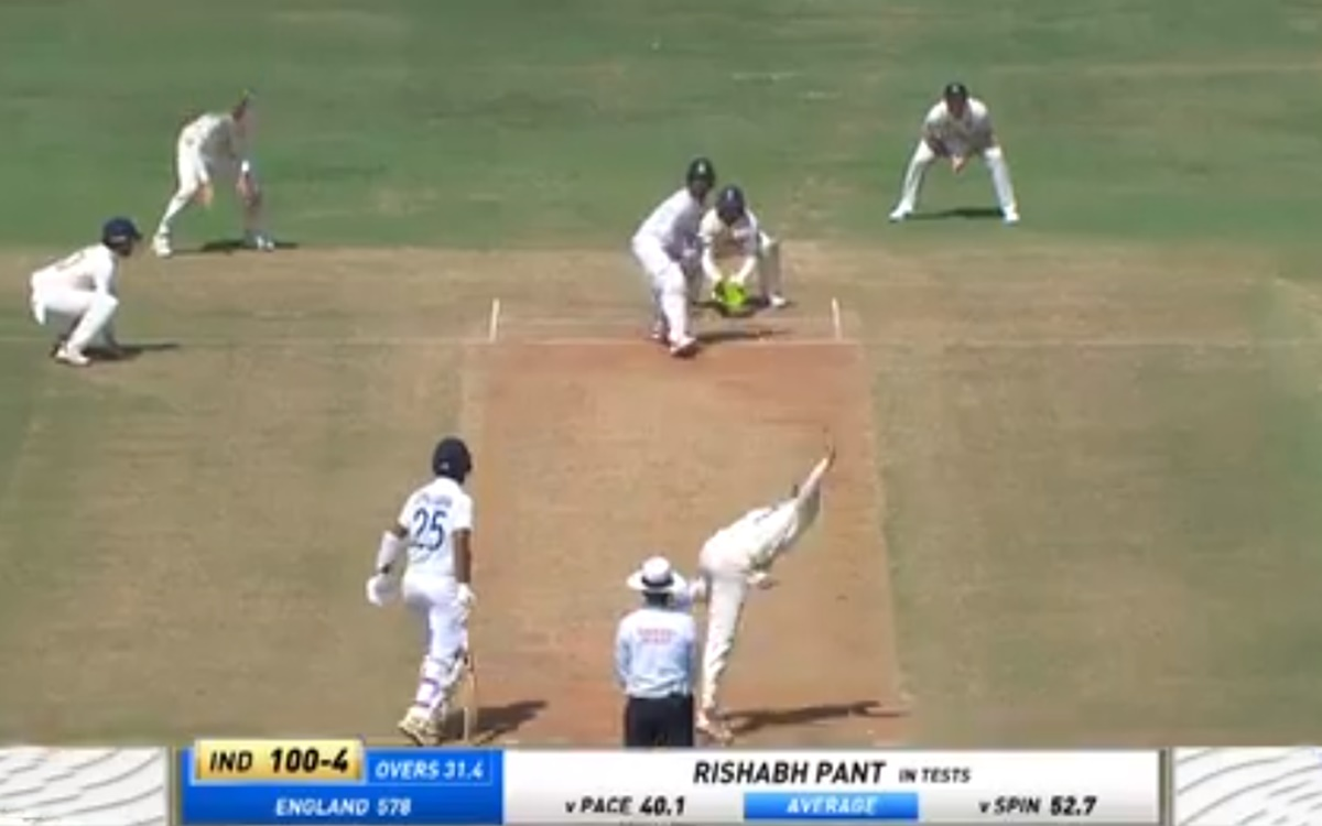 Cricket Image for Rishabh Pant Decides To Take On Jack Leach