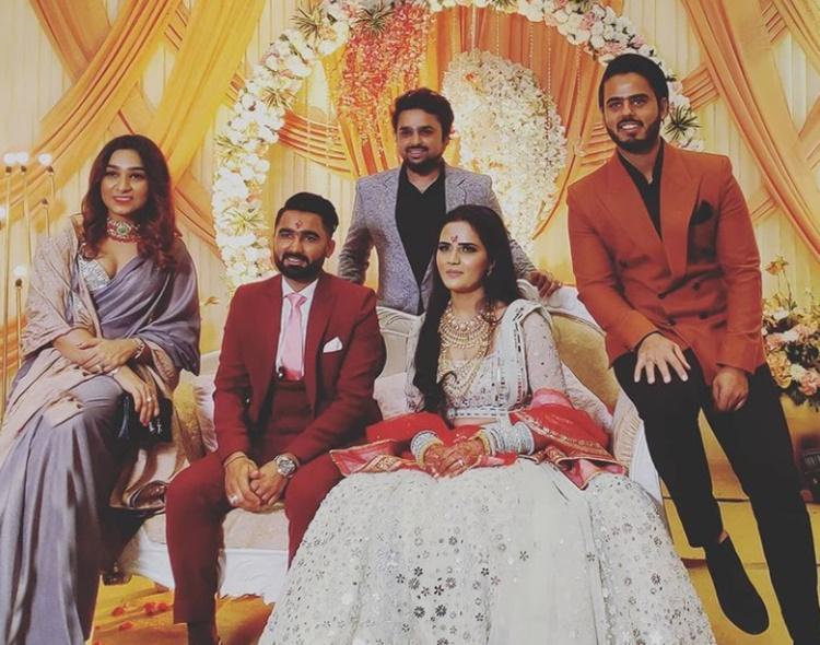 Cricket Image for Rajasthan Royals Cricketer Rahul Tewatia Engaged