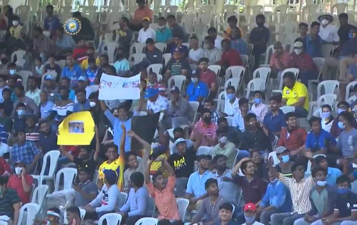 Cricket Fans Return to Stadium After Almost a Year in India During
