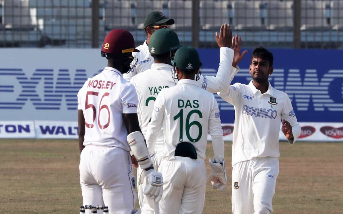 Cricket Image for Ban Vs Wi Bangladeshs Score In The Chittagong Test Against West Indies Is Difficul
