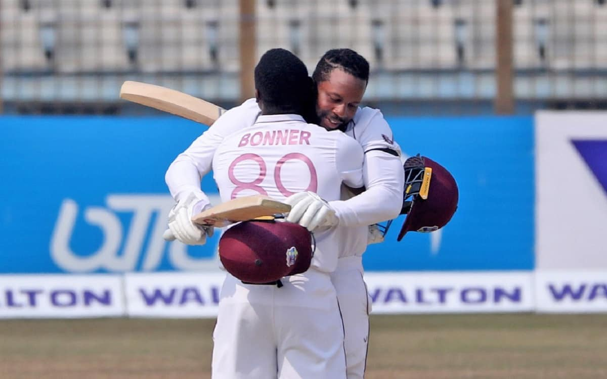 Cricket Image for Ban vs Wi West Indies Historic Win In Test Match Against Bangladesh With Double Ce