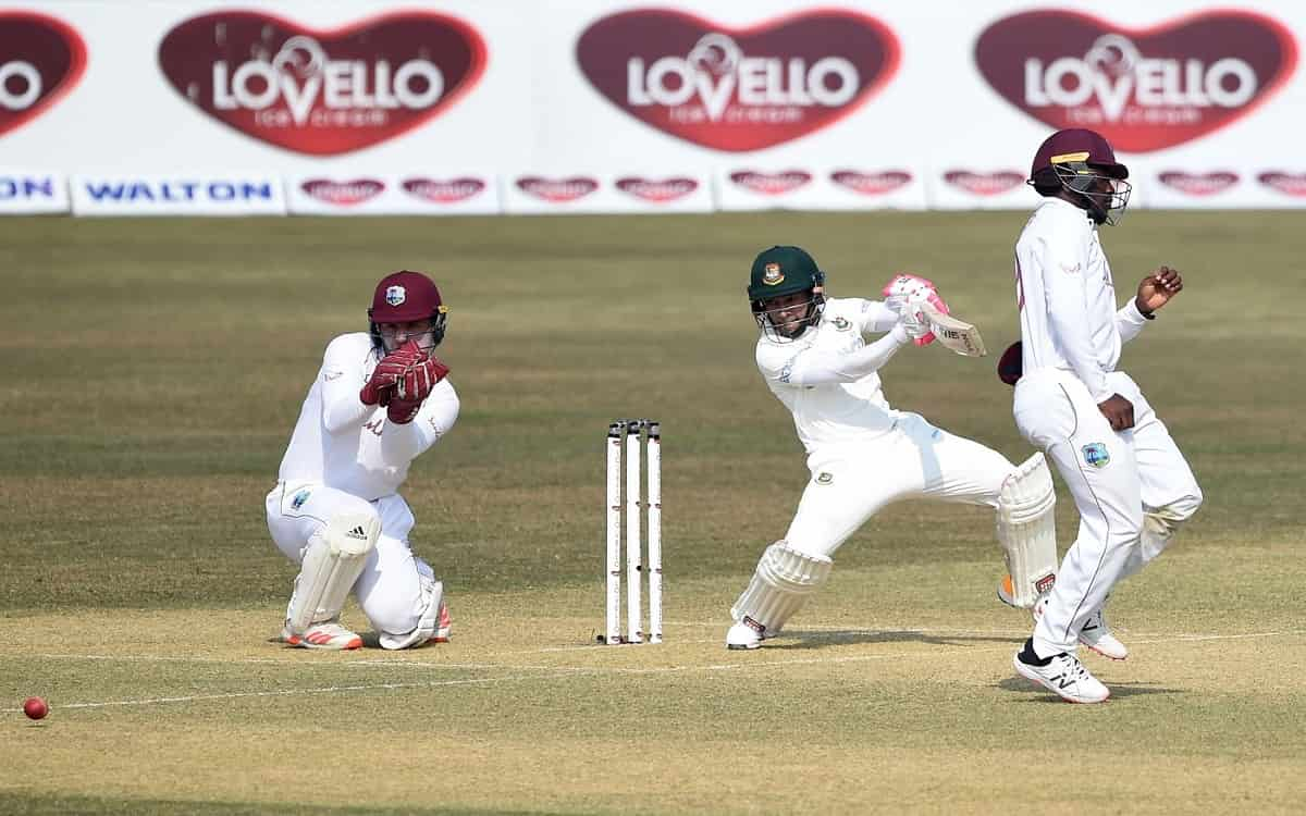 Cricket Image for Bangladesh, West Indies Share Opening-Day Honours