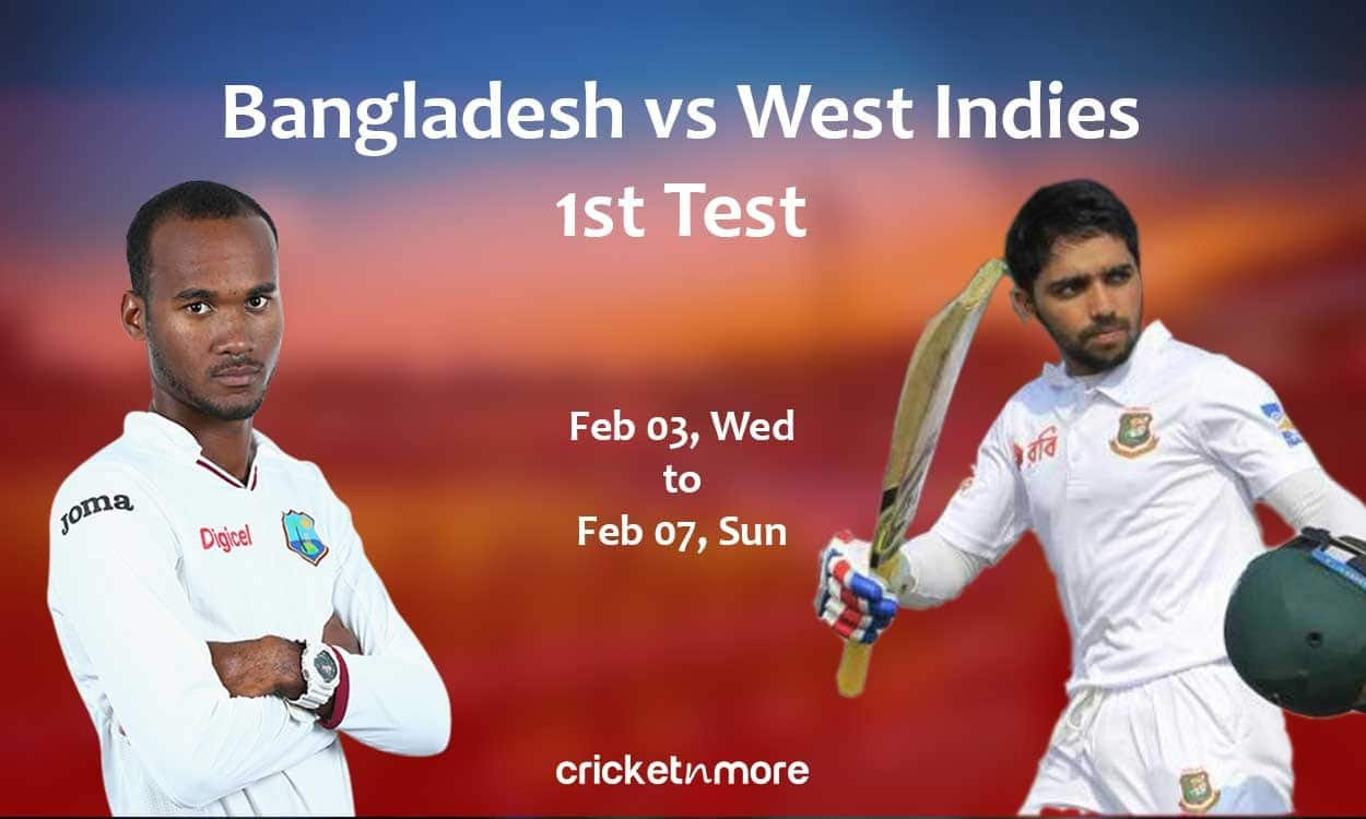 Cricket Image for Bangladesh vs West Indies 1st Test, Fantasy Cricket XI Tips, Prediction and Probab