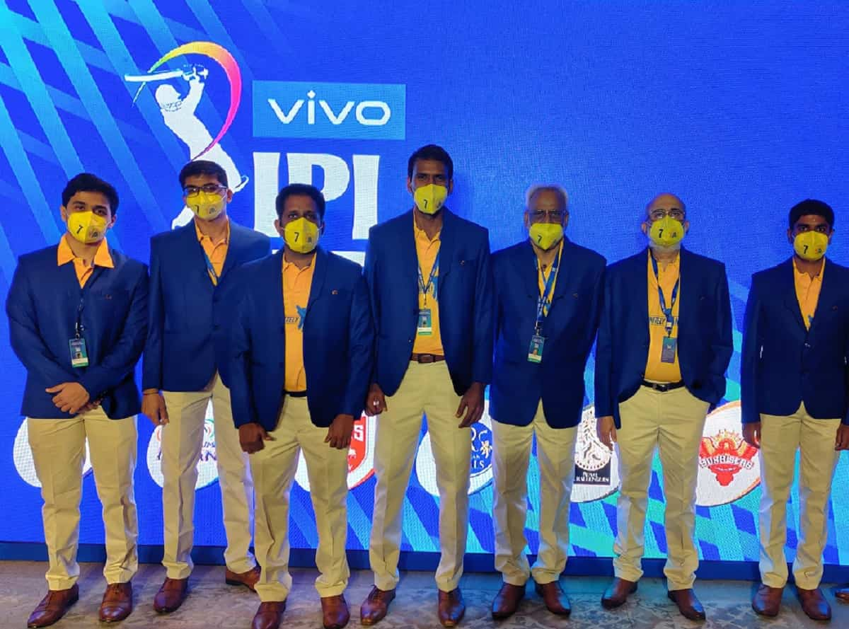 Cricket Image for Chennai Super Kings Giving Special Tribute To MS Dhoni During IPL Auction 2021