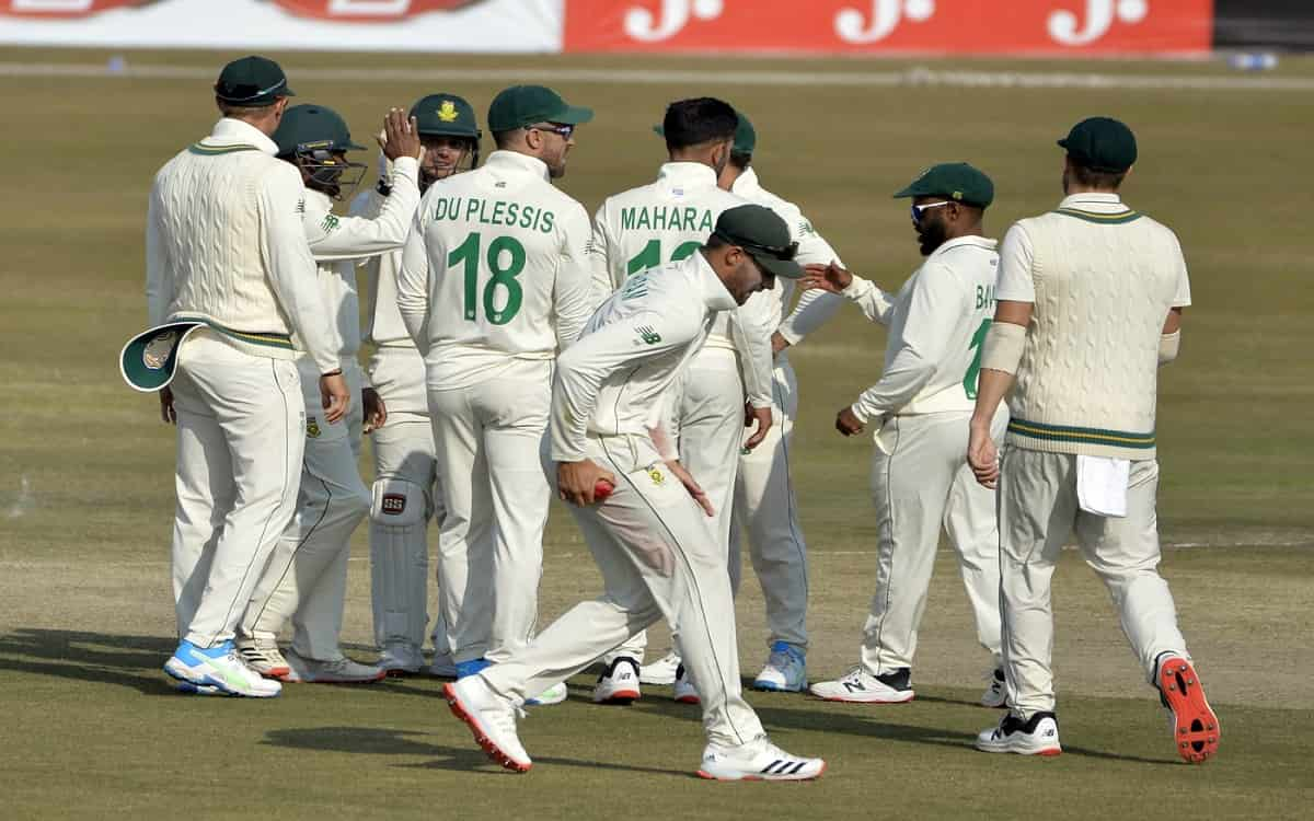 Cricket Image for PAk vs SA: George Linde, Keshav Maharaj Keep South Africa In The Game After Hasan