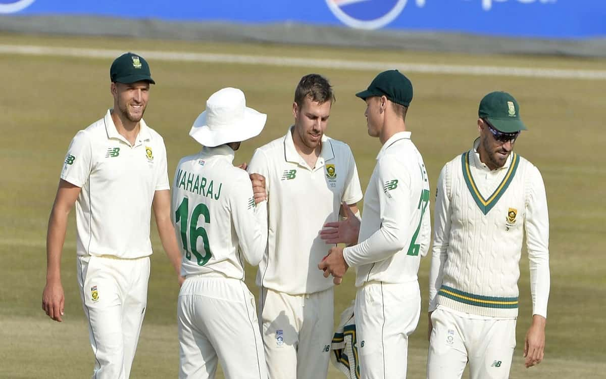Cricket Image for Pak vs Sa South Africas Notreje Took Five Wickets And Conceded Pakistan On A Small