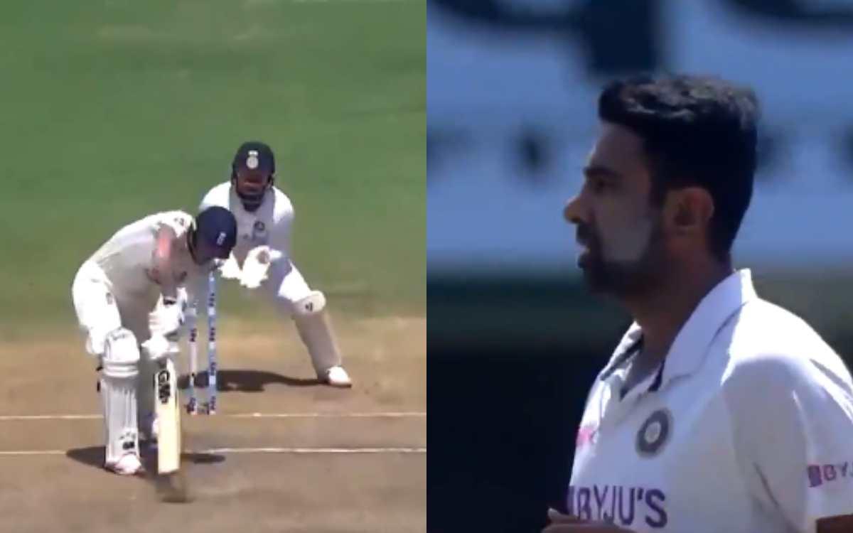 Cricket Image for VIDEO : 'ये नहीं देखा तो क्या देखा', अश्विन की 'ड्रीम बॉल' पर क्लीन बोल्ड हुए बेन