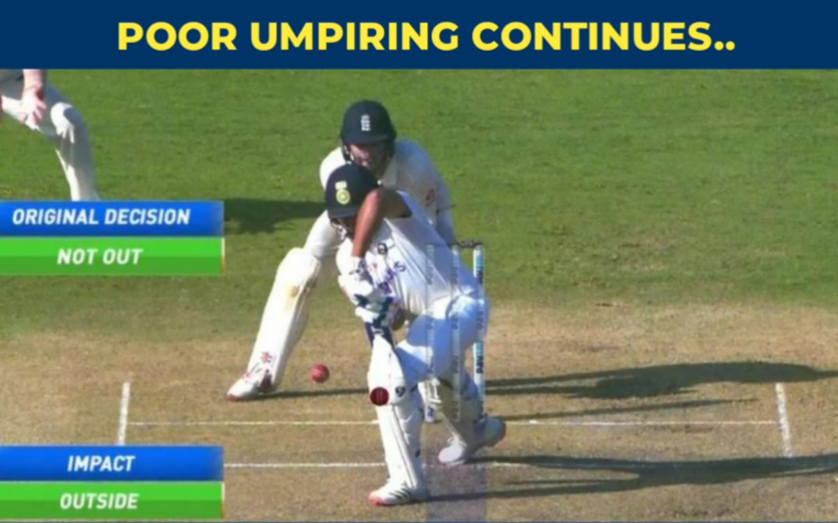 Cricket Image for Umpire Committed A Mistake During India Vs England Day 2
