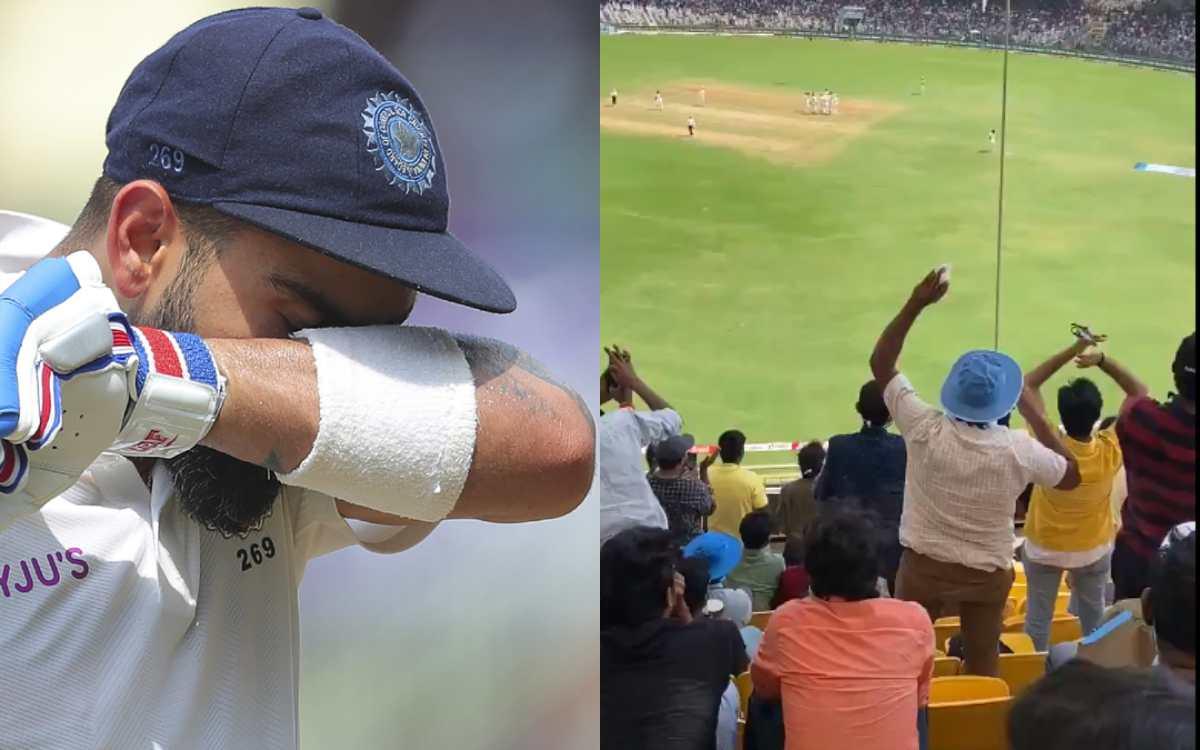 Cricket Image for विराट का शतक देखने के लिए 500 किमी दूर चेन्नई पहुंचा फैन, सोशल मीडिया यूजर्स बोले-
