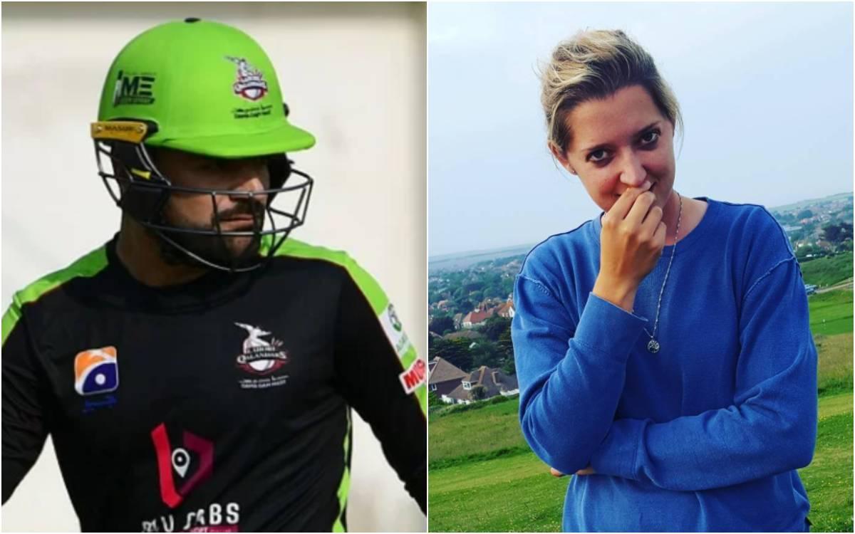 Cricket Image for 'मुझे भी सीखा दो हेलीकॉप्टर शॉट', राशिद खान का छक्का देखकर सारा टेलर ने किया ट्वीट