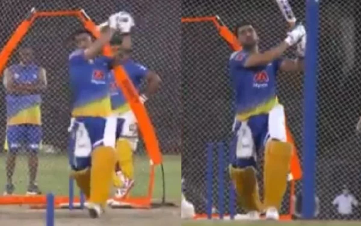 IPL 2021 MS Dhoni video as he Starts Traning for IPL 2021