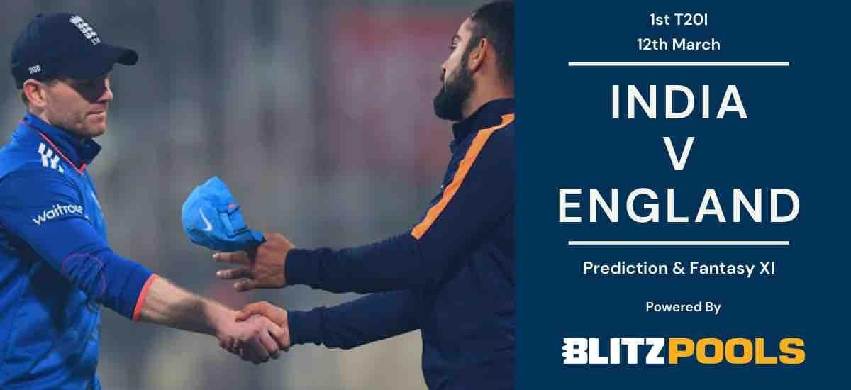 India vs England First T20I Blitzpool Prediction