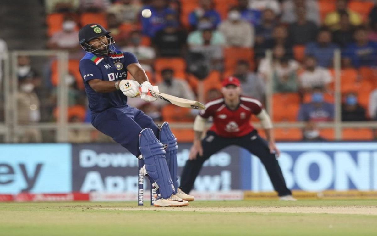 Cricket Image for India Vs England 1st T20i Rishabh Pant Reverse Swept Jofra Archer Over Slips