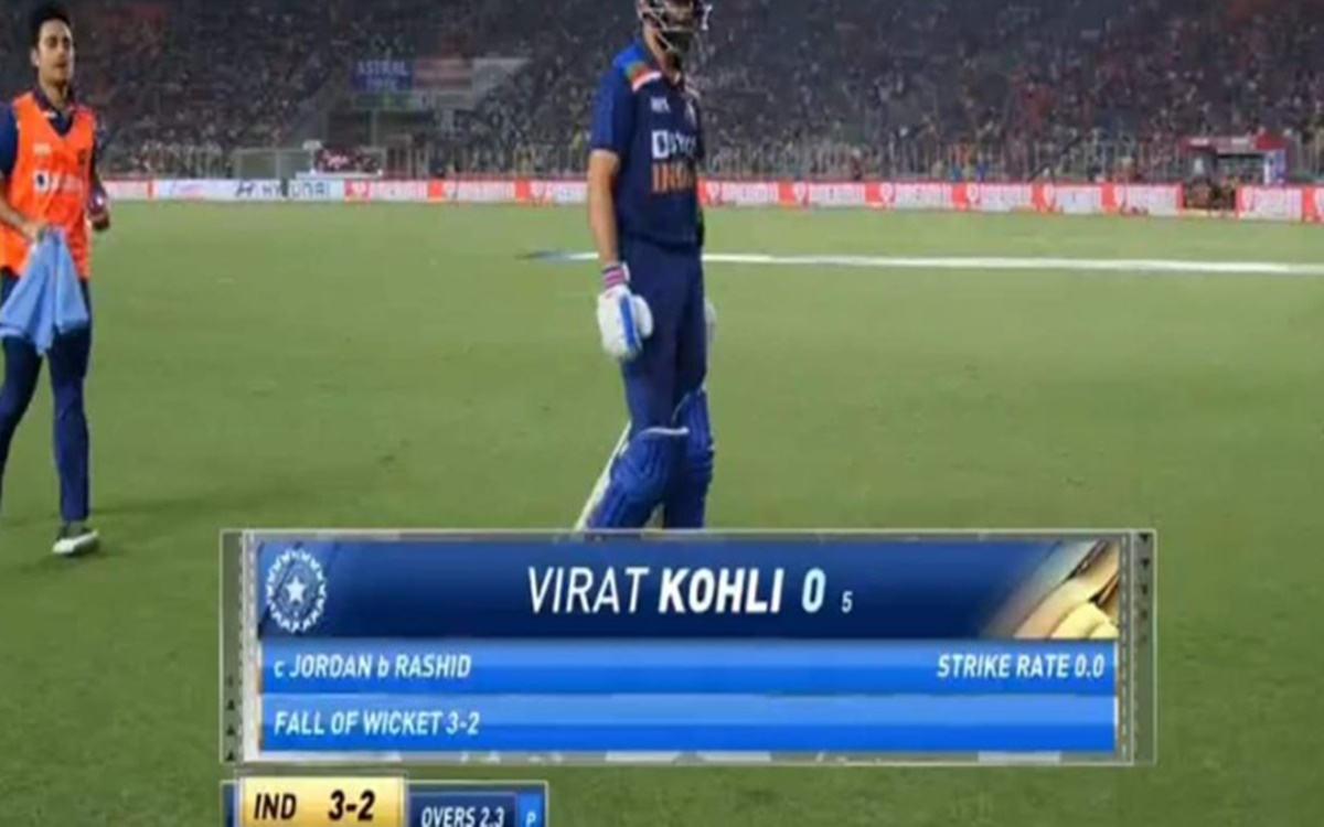 Cricket Image for India Vs England 1st T20i Virat Kohli Gets Trolled After Fail To Score Run Against