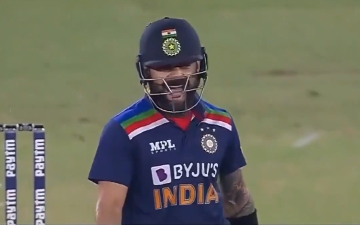 Cricket Image for India Vs England Virat Kohli Reaction After Hittin Six