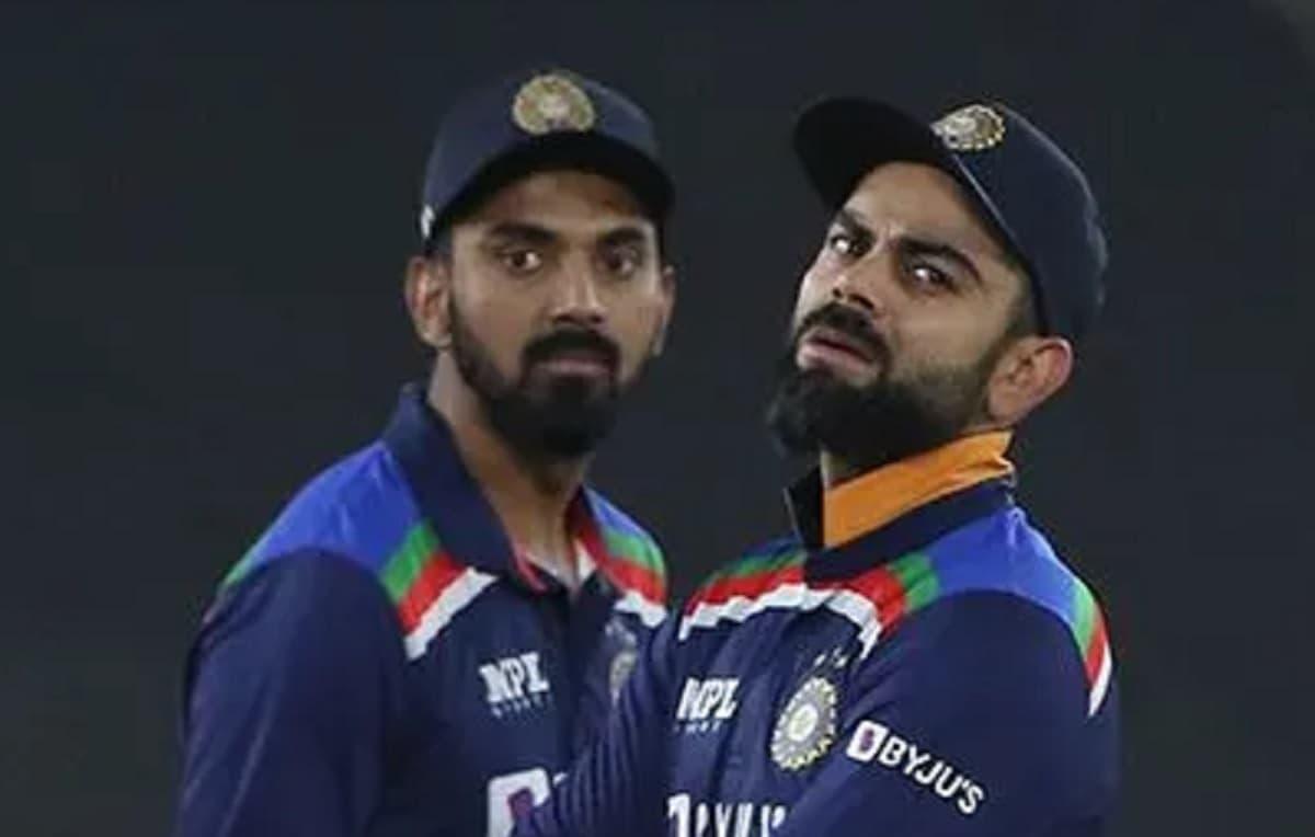 Cricket Image for फ्लॉप केएल राहुल के सपोर्ट में उतरे कप्तान विराट कोहली, बोले रोहित शर्मा के साथ टॉ