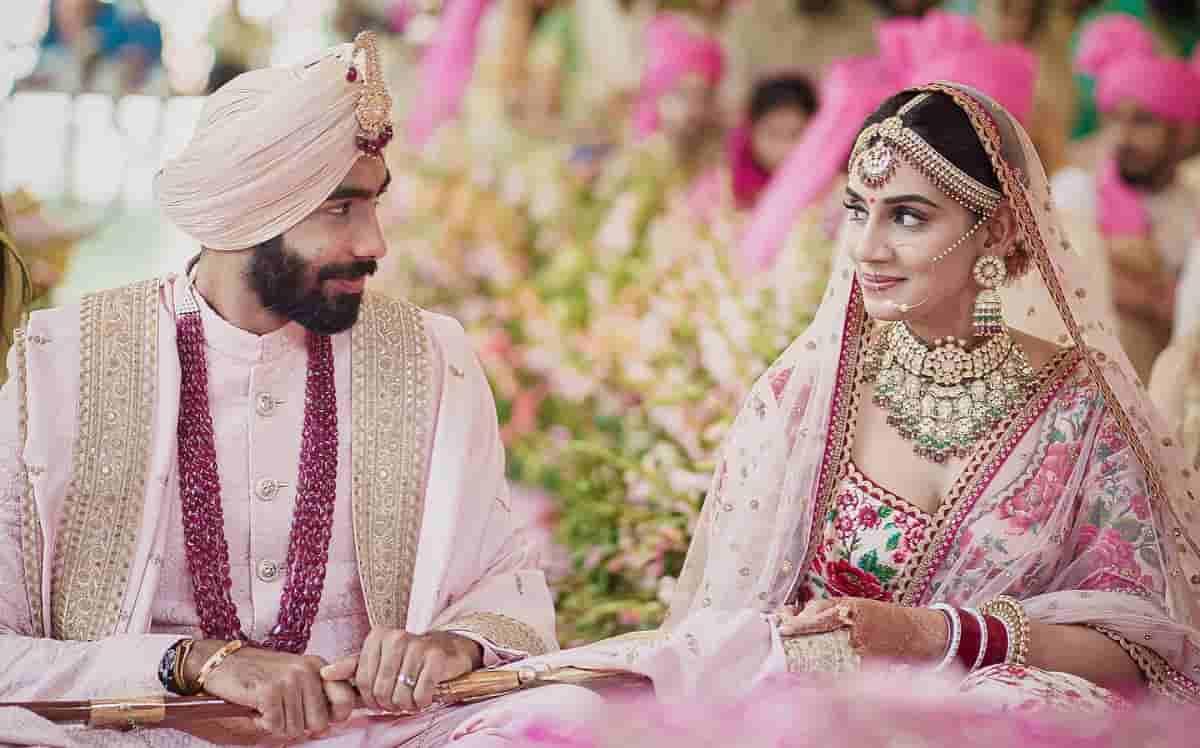 Cricket Image for India Pacer Jasprit Bumrah Ties Knot With Sanjana Ganesan