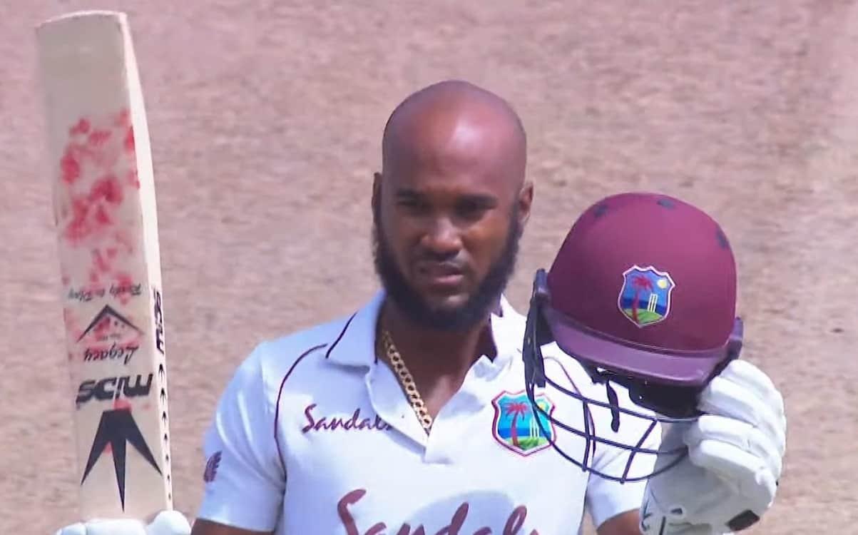 Cricket Image for WI vs SL: क्रैग ब्रैथवेट के शतक के दम पर वेस्टइंडीज ने बनाया सम्मानजनक स्कोर, श्री