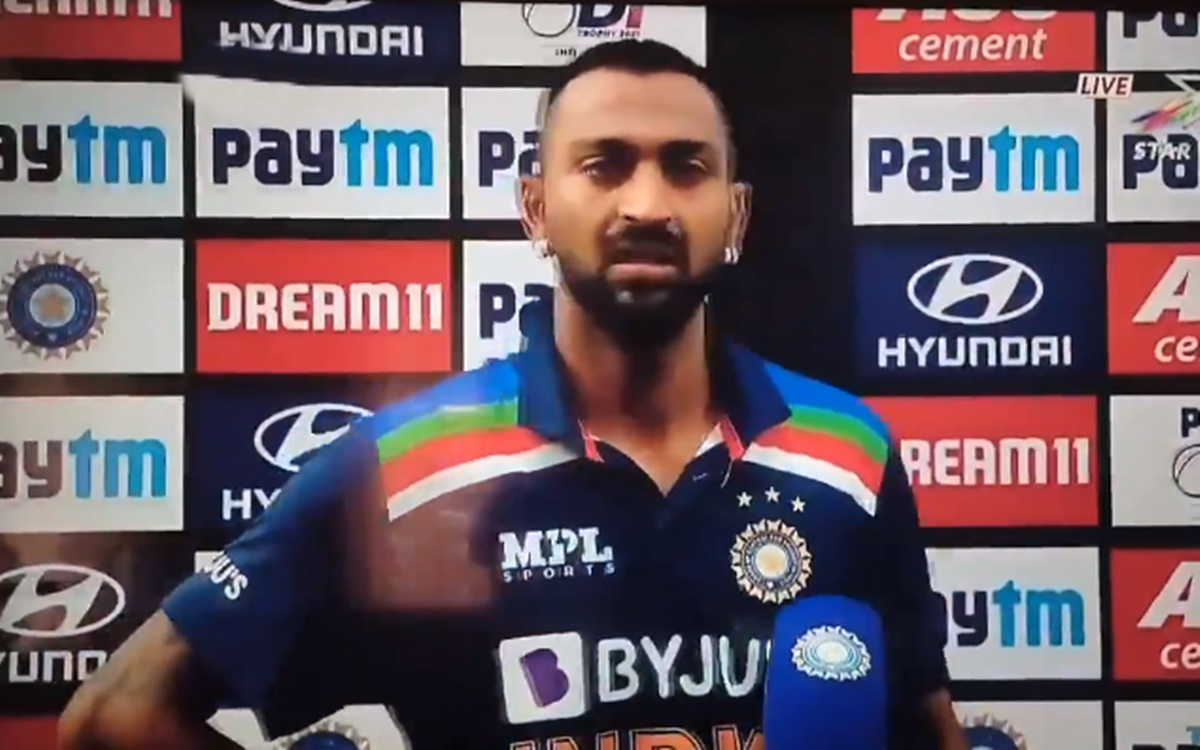 Cricket Image for Krunal Pandya Crying And Could Not Even Speak After That