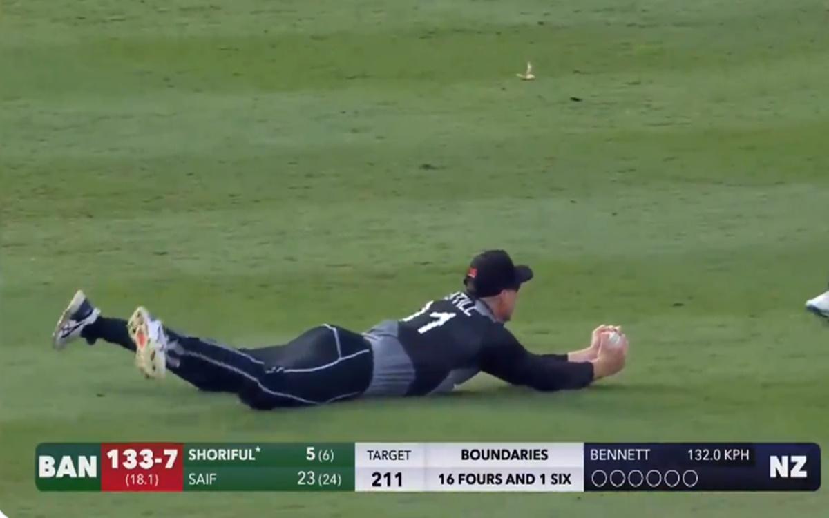 Cricket Image for Martin Guptill Brilliant Catch In Hamilton T20i