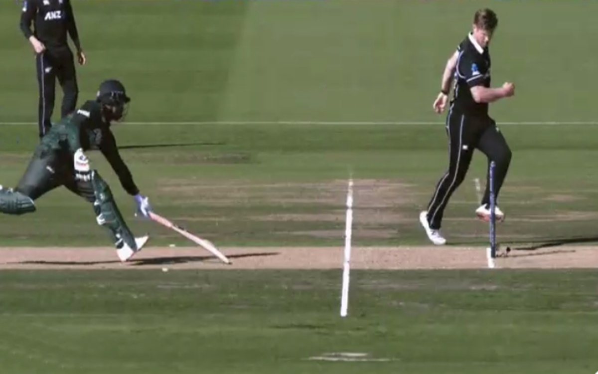 Cricket Image for Jimmy Neesham Run Out Tamim Iqbal