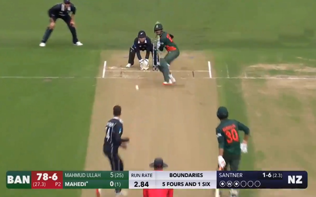 Cricket Image for Mehedi Hasan No Look Six