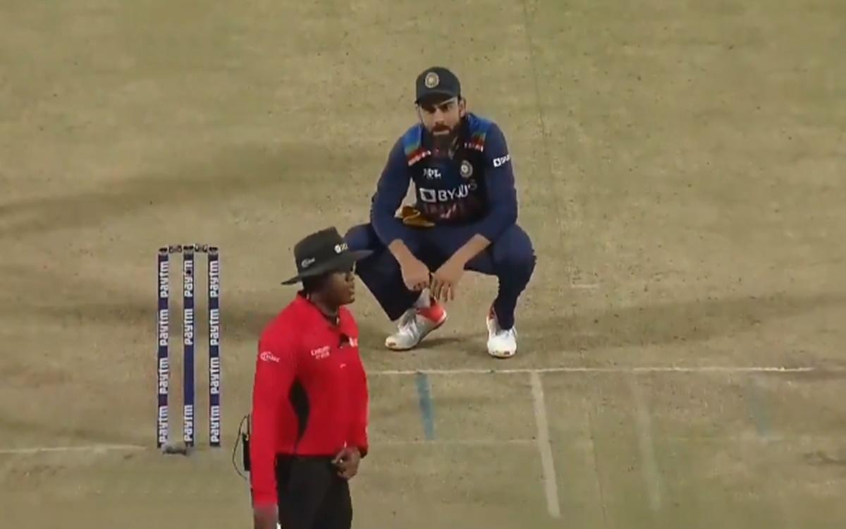 Cricket Image for Nitin Menon Ignores Virat Kohli When He Tries To Discuss Ben Stokes Run Out