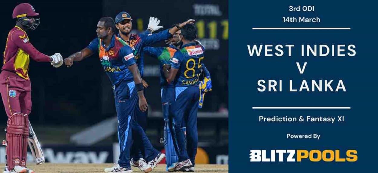 Cricket Image for West Indies vs Sri Lanka, 3rd ODI – Blitzpools Prediction, Fantasy XI Tips & Proba