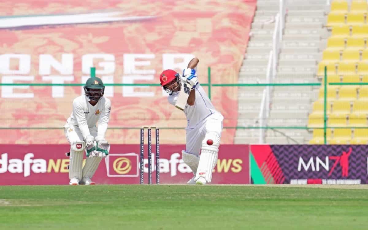 Cricket Image for AFG vs ZIM: टेस्ट मैच के दूसरे दिन अफगानिस्तान की किस्मत रही बुलंद