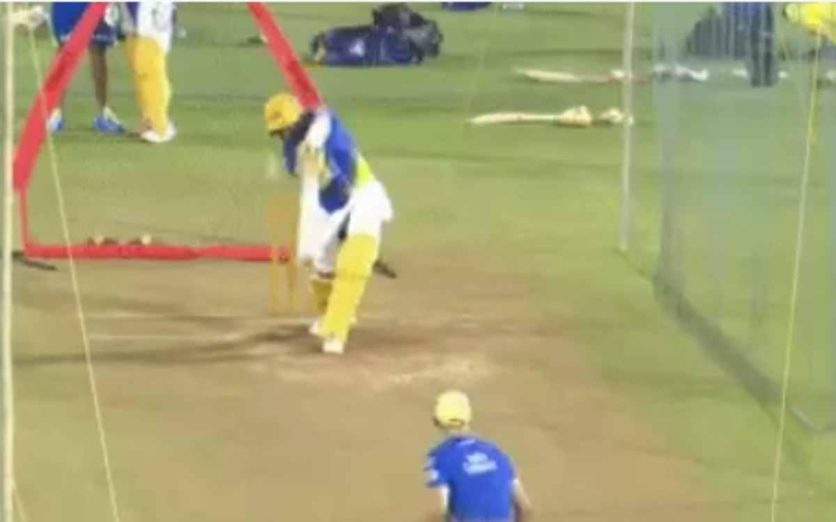 Cricket Image for VIDEO : चेतेश्वर पुजारा कर रहे हैं छक्के लगाने की प्रैक्टिस, क्या CSK की प्लेइंग इ