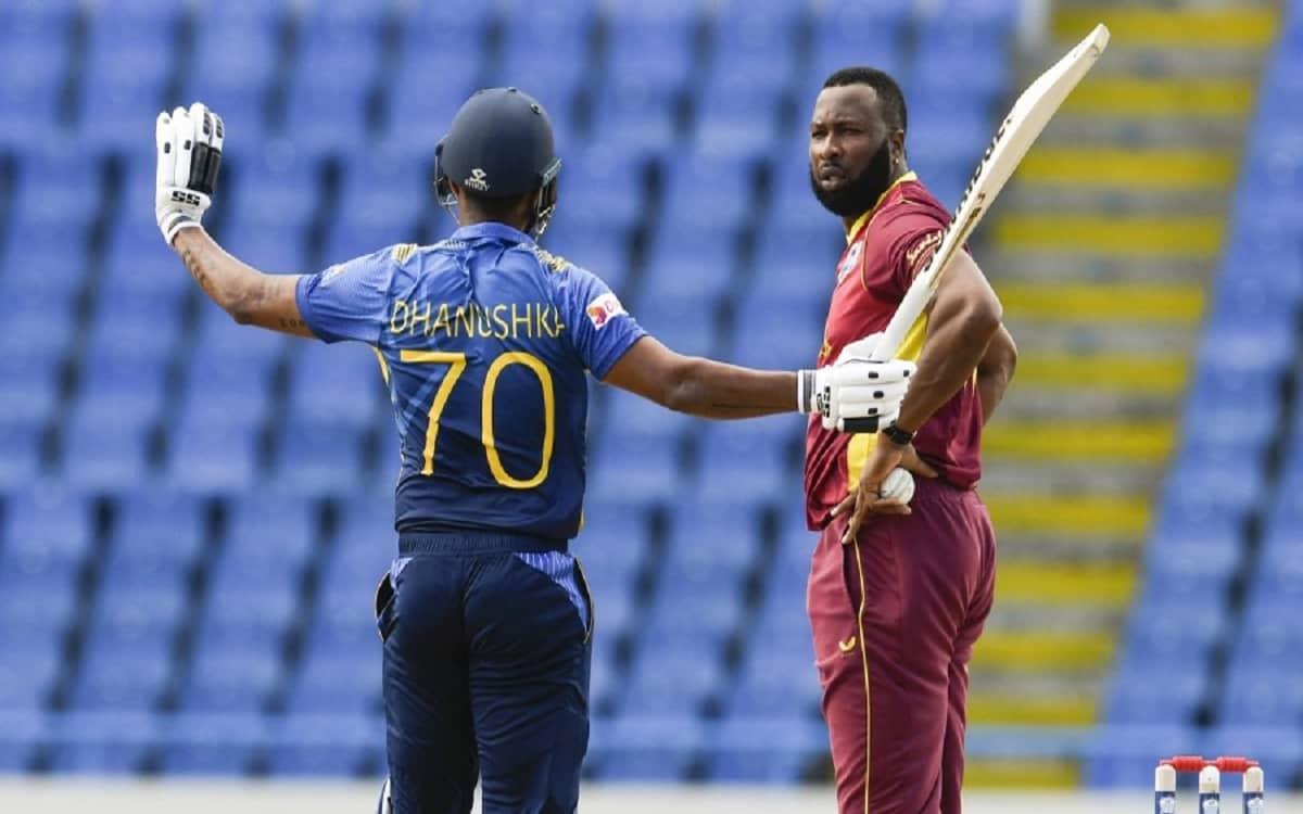 Cricket Image for WI vs SL: Danushka Gunathilaka Out Obstructing The Field As Sri Lanka Make 232 In