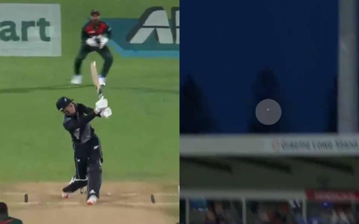 Cricket Image for VIDEO: RCB के फिन एलेन ने  लगाया 95 मीटर लंबा छ्क्का, आसमान को चूमती हुई स्टेडियम