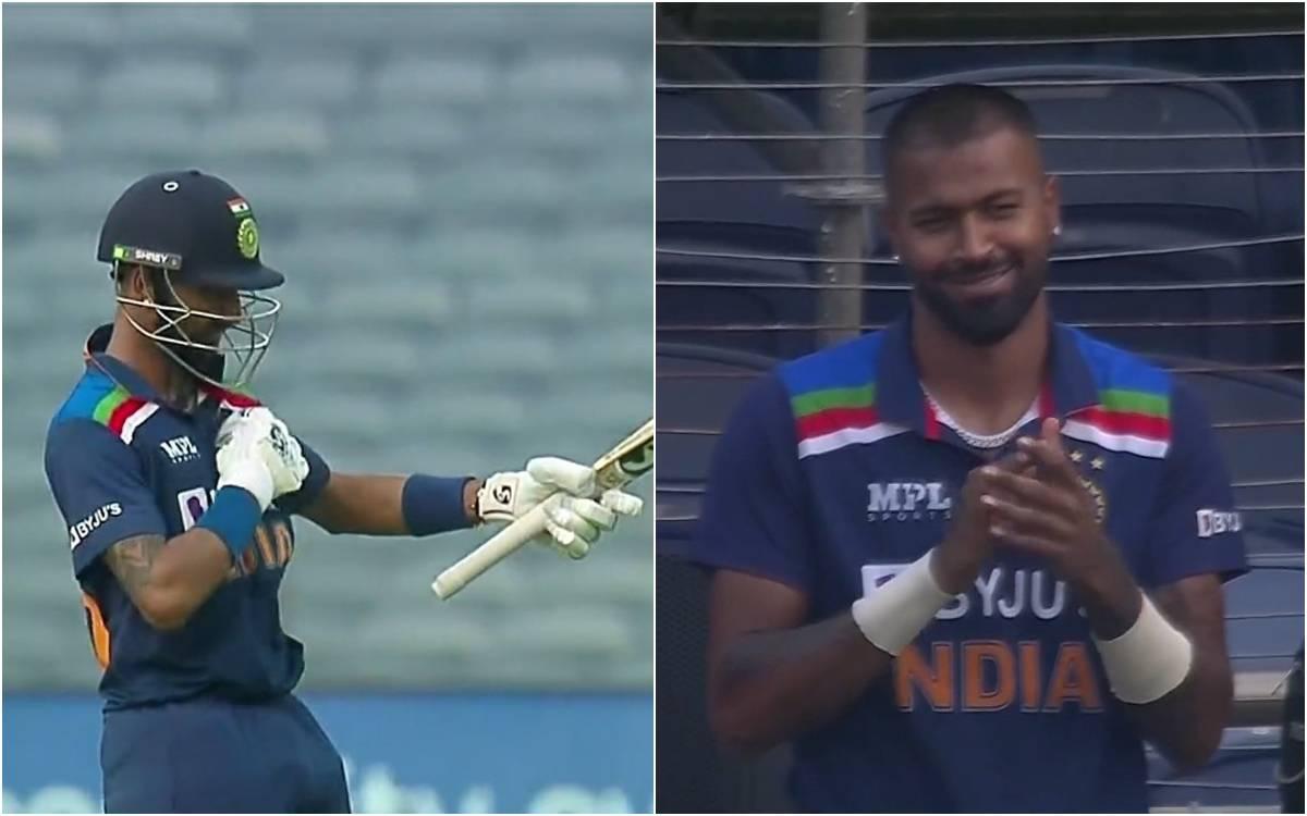 Cricket Image for VIDEO : 'दिल जीत लेगा हार्दिक का ये रिएक्शन', भाई क्रुणाल पांड्या की फिफ्टी पर भाव